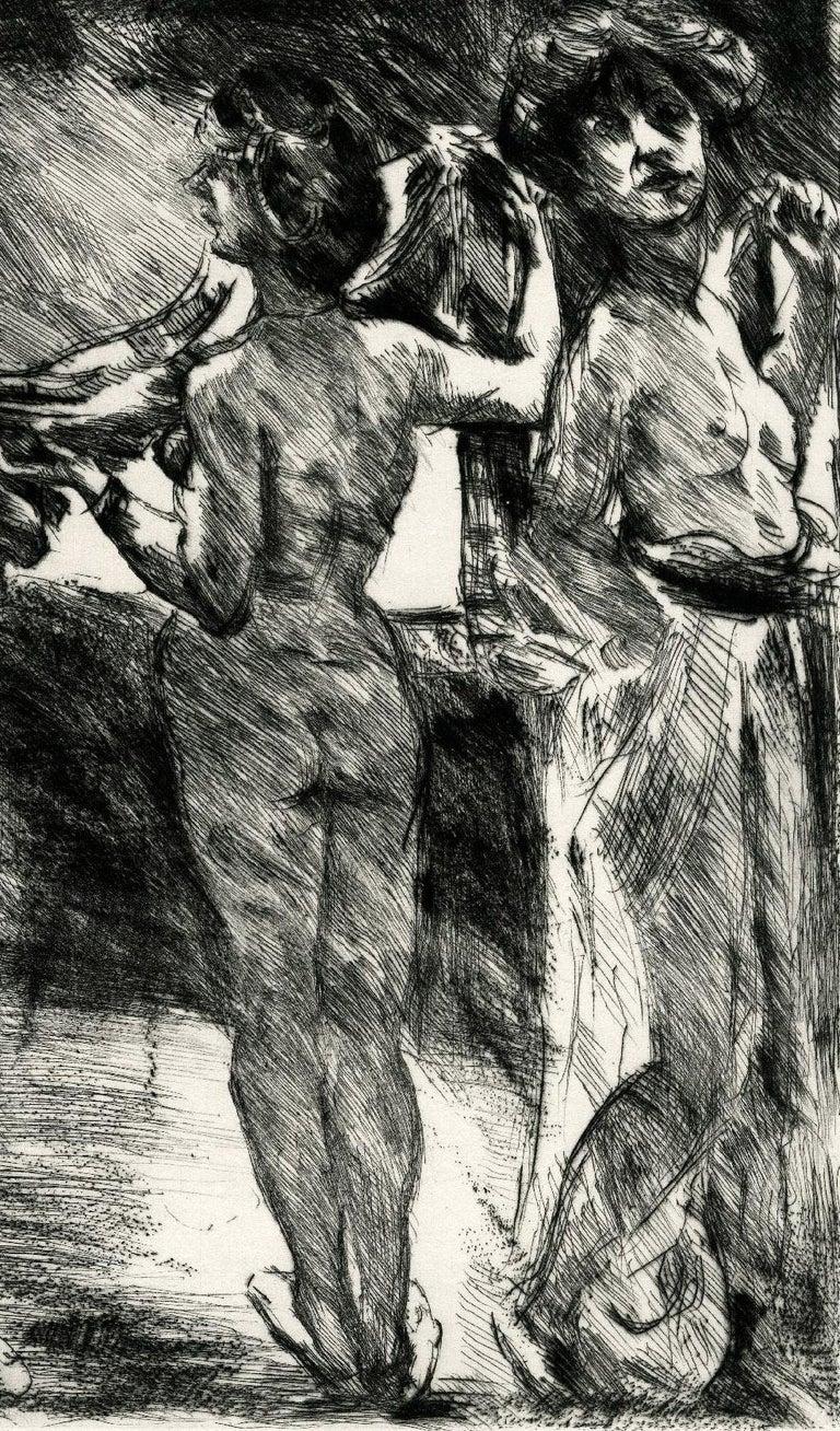 Drei Grazien (Three Graces) - Expressionist Print by Lovis Corinth