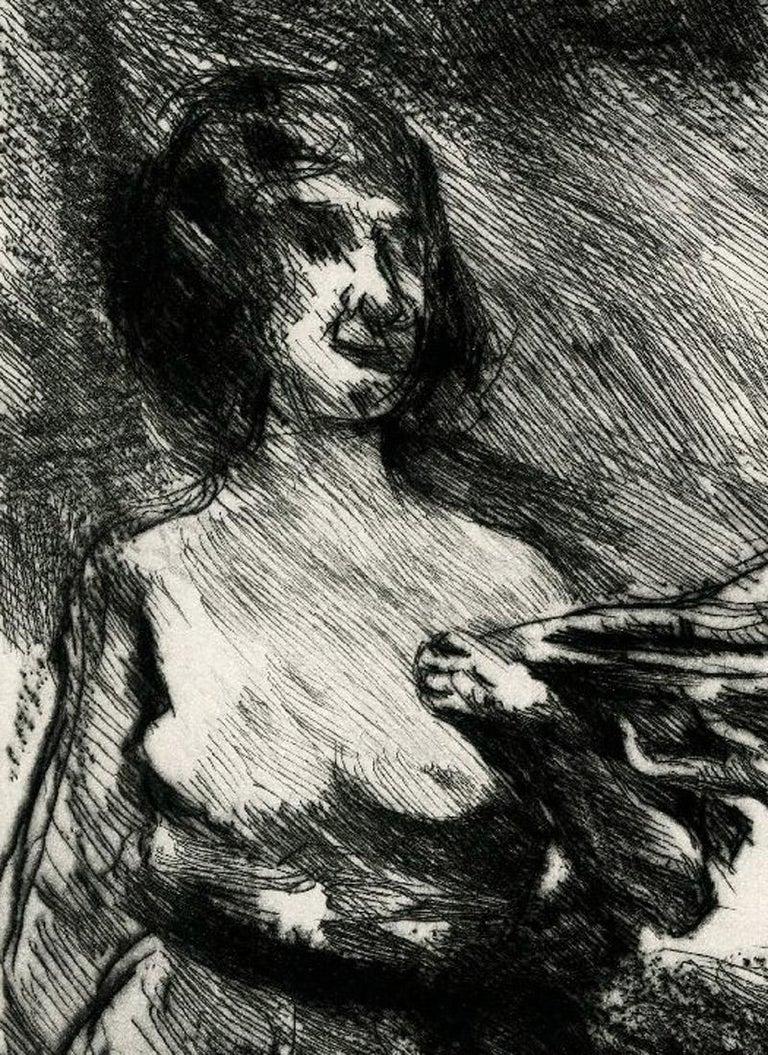 Drei Grazien (Three Graces) - Gray Nude Print by Lovis Corinth