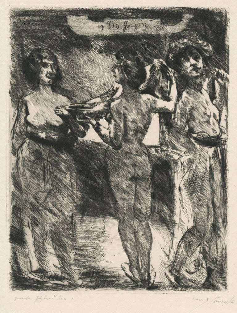 Lovis Corinth Nude Print - Drei Grazien (Three Graces)