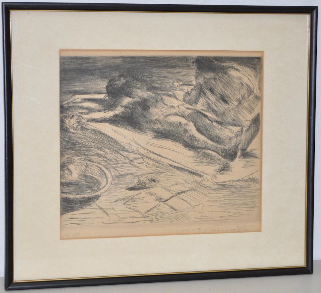 "Lovis Corinth (German, 1859-1925) ""Pieta"" Rare Etching c.1920"