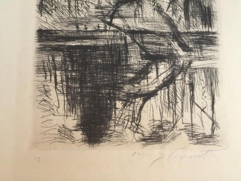 Partie aus dem Tiergarten - Impressionist Print by Lovis Corinth