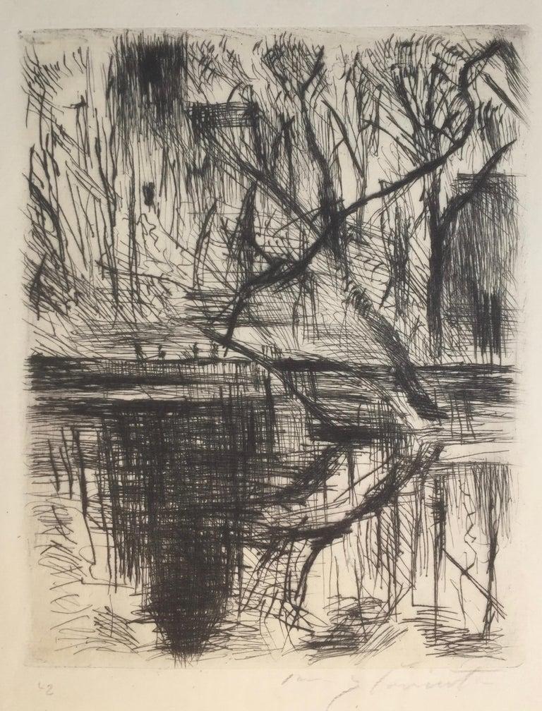 Lovis Corinth Landscape Print - Partie aus dem Tiergarten