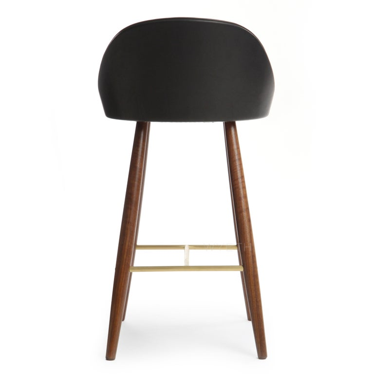 Mid-20th Century Low Backed Bar Stool For Sale