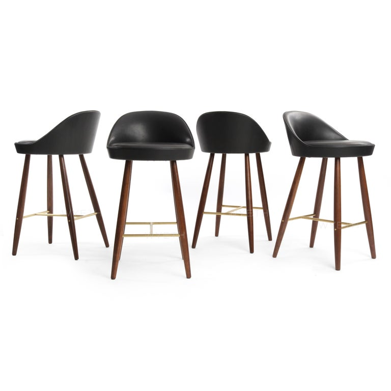 Bronze Low Backed Bar Stool For Sale