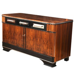 Low Bauhaus Sideboard, Walnut, Germany circa 1930