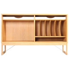 Low Bookcase in Oak with Adjustable Shelves by Børge Mogensen, Midcentury