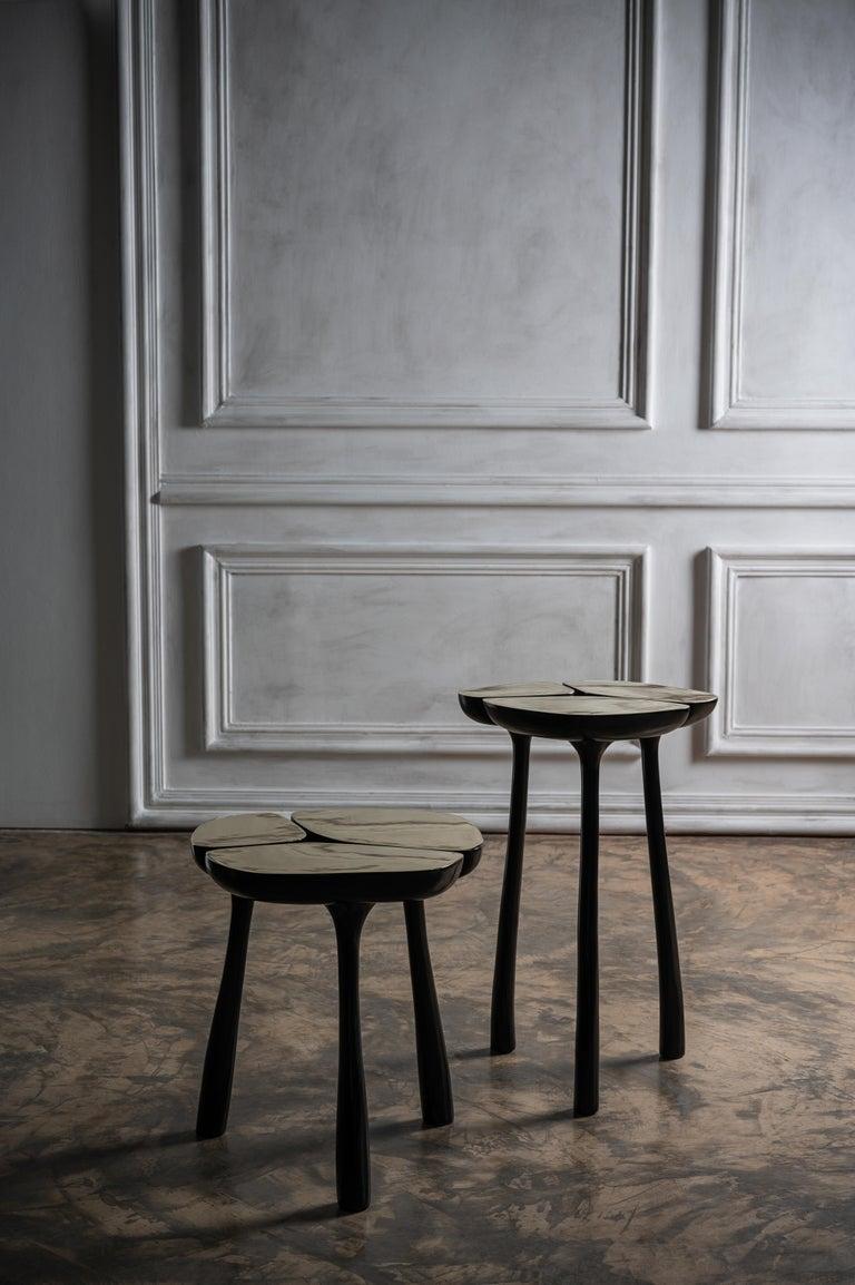 Low Bronze Jasper Side Table in Gold Bronze and Dark Bronze by Elan Atelier For Sale 7