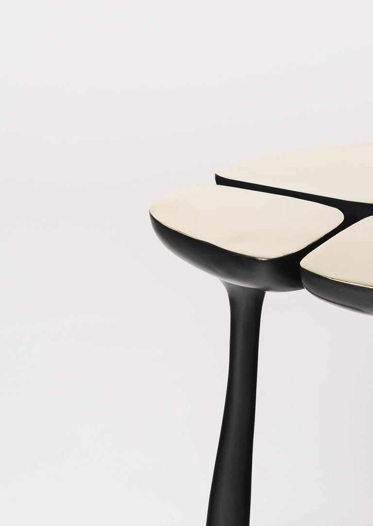 Low Bronze Jasper Side Table in Gold Bronze and Dark Bronze by Elan Atelier For Sale 3