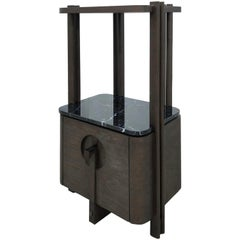 Low Cabinet Shelf Interlock André Fu Living Brown Oak Stone Modern Storage New
