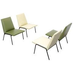 Niedrige Stühle, Robert von Pierre Guariche für Meurop