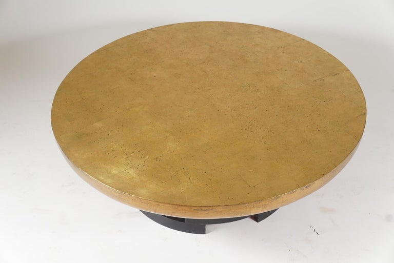 Mid-Century Modern Low Circular Table in the Manner of James Mont For Sale