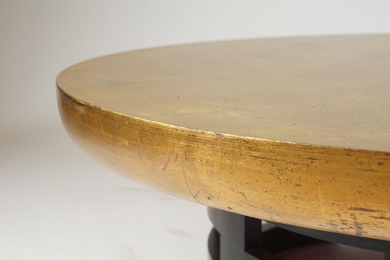 Low Circular Table in the Manner of James Mont In Good Condition For Sale In Hudson, NY