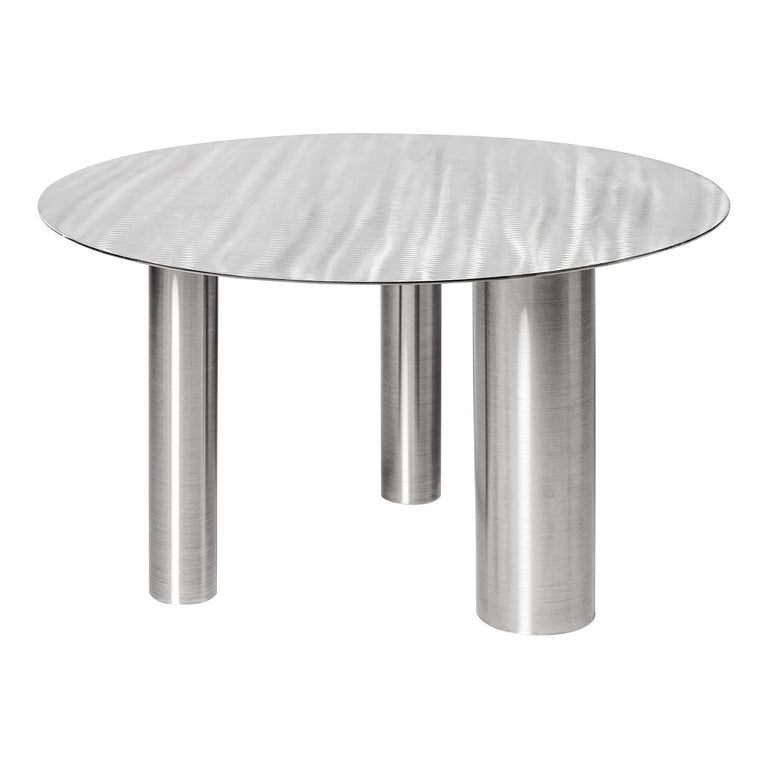 Low Coffee Table Brandt CS1 made of stainless steel by Noom For Sale