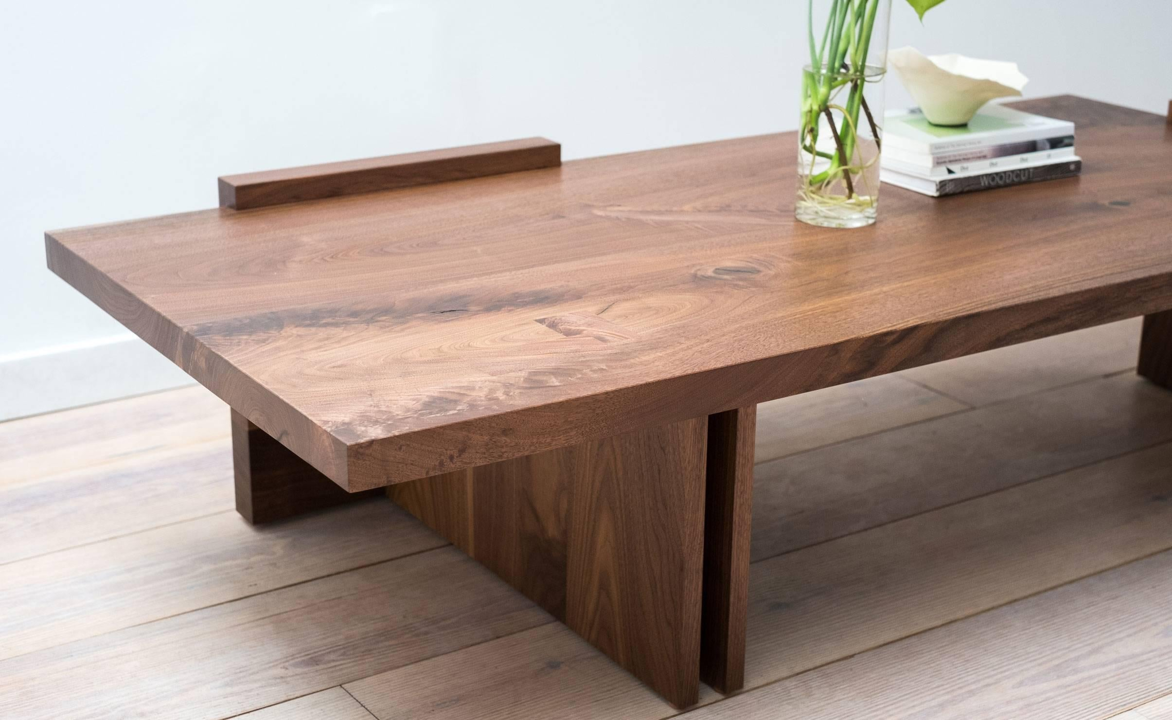 Low Coffee Table In Walnut