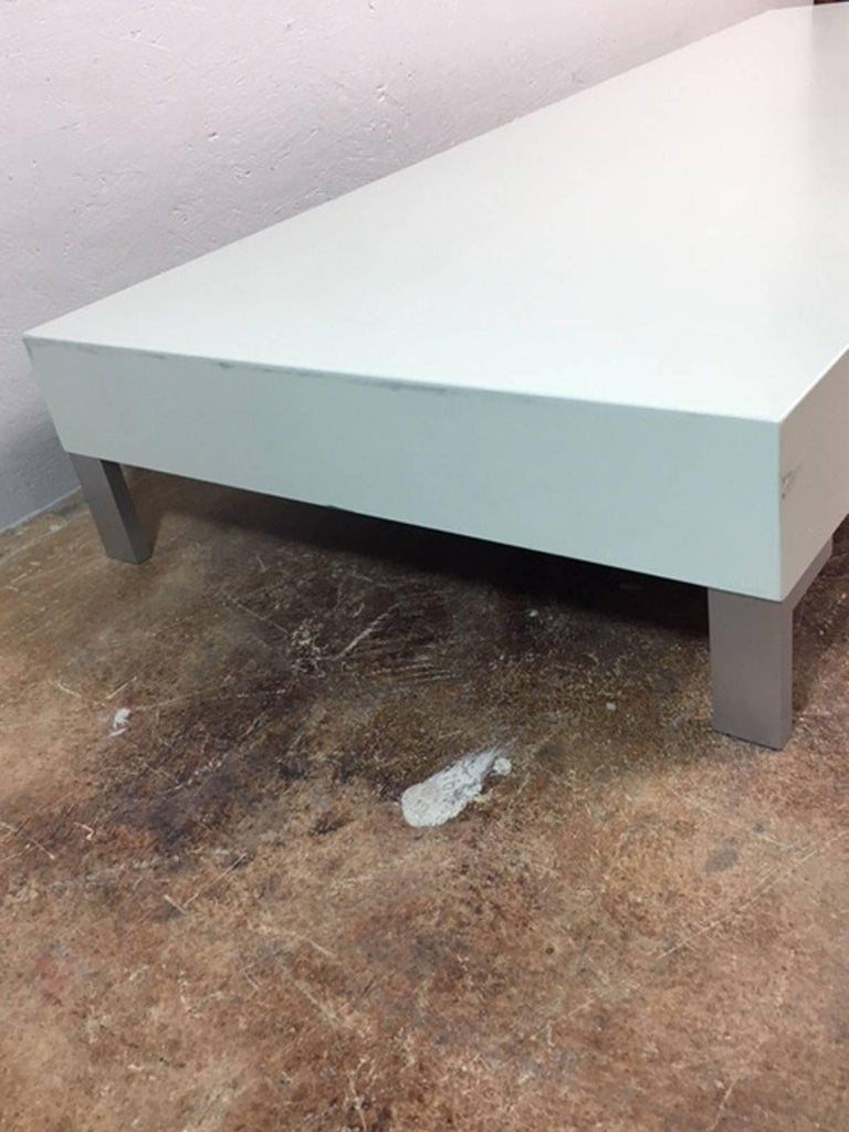 Italian Low Coffee Table or Sculpture Display Table For Sale