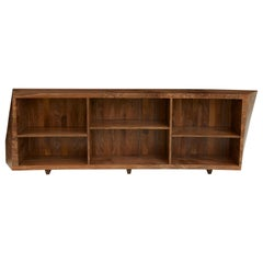Low Curved Bookcase in English Walnut by Jonathan Field