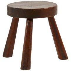 Low French Round Stool