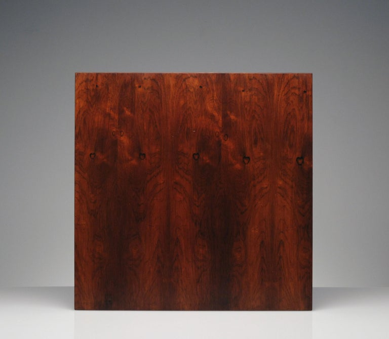 Low Italian Modern Rosewood Coffee Table by Gianfranco Frattini, 1956 For Sale 4