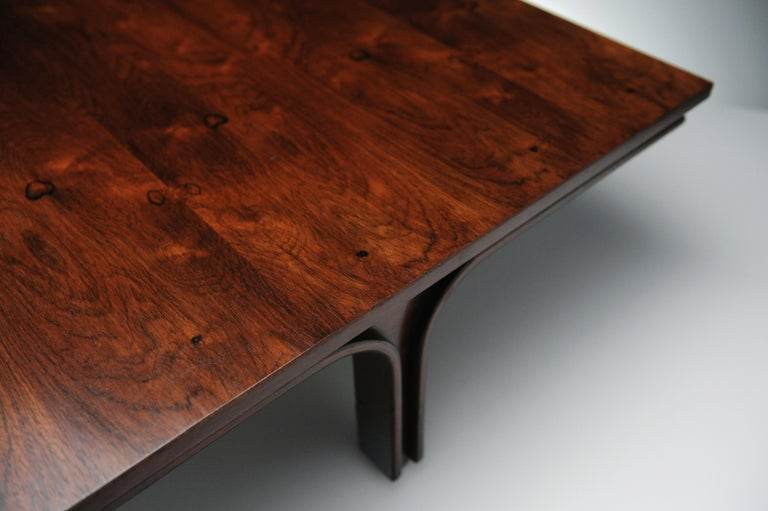 Low Italian Modern Rosewood Coffee Table by Gianfranco Frattini, 1956 For Sale 10