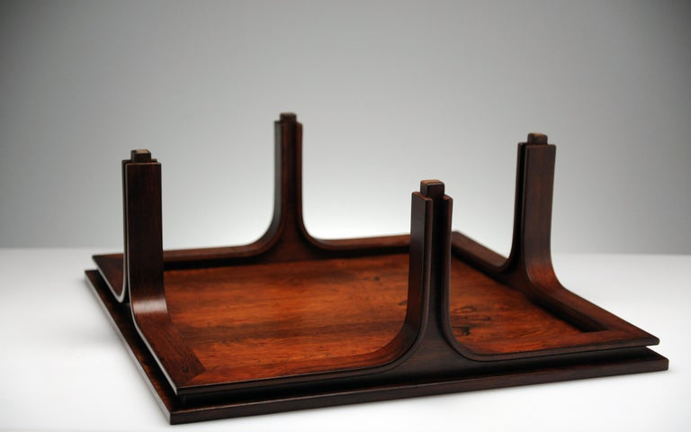 Low Italian Modern Rosewood Coffee Table by Gianfranco Frattini, 1956 For Sale 12