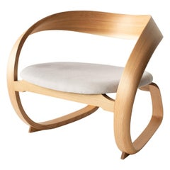 Low rocking Chair Japanese Modern Style Bentwood Chair