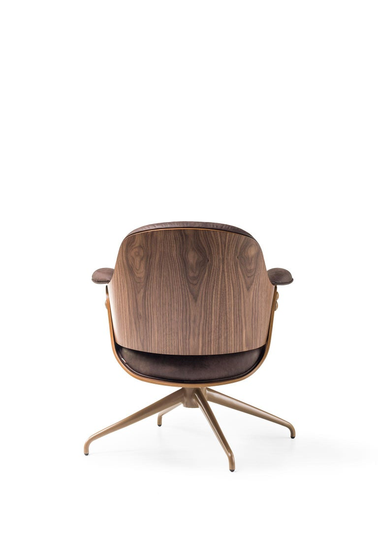 Low lounger armchair designed by Jaime Hayon for BD Barcelona. Spanish artist-designer Jaime Hayon is one of the most acclaimed creators worldwide. Hayon's esteem and knowledge of artisan skills and his inherent creativity have allowed him to push