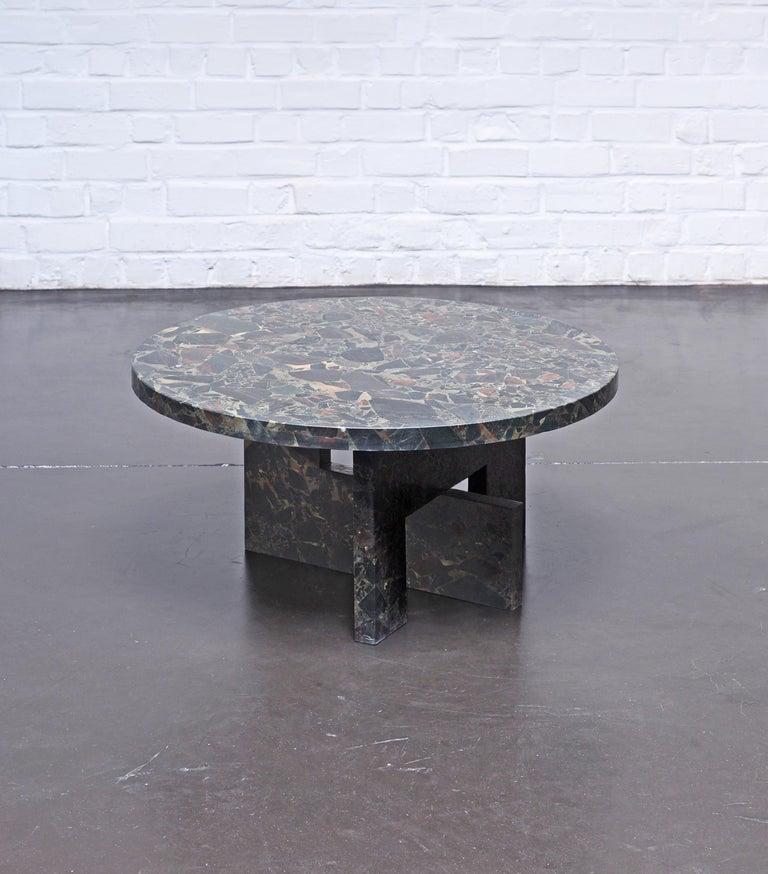 Organic Modern Low Marble Table, Sébastien Caporusso For Sale