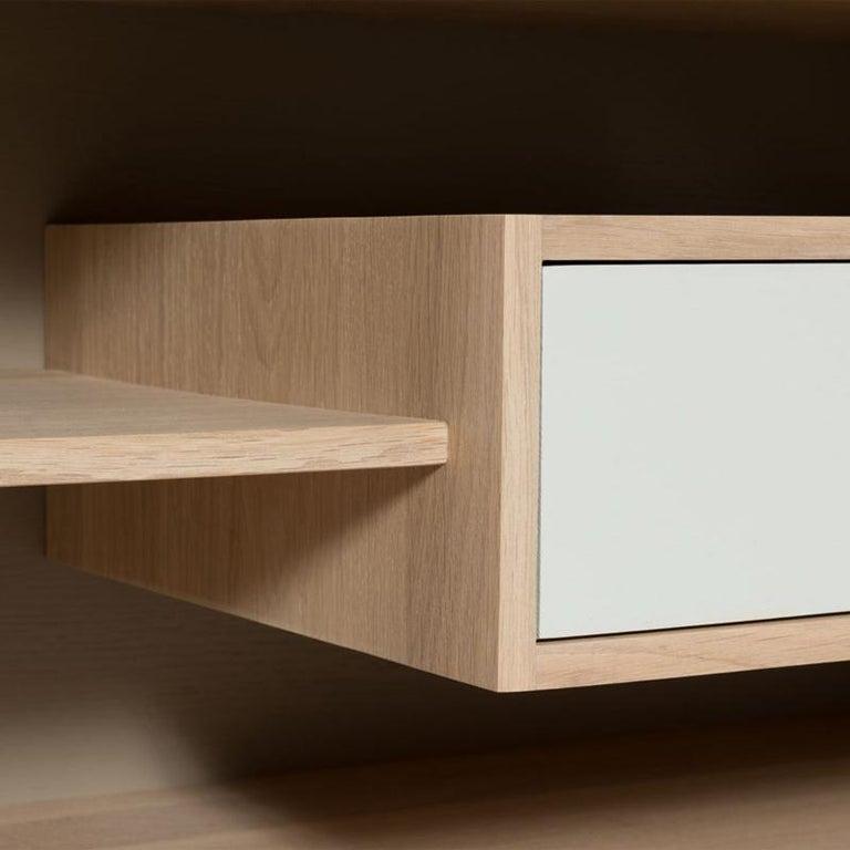 Low Oak TV Sideboard in Solid French Oak For Sale 1