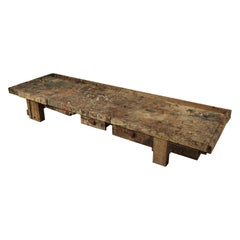 Low Primitive Coffee Table from France, circa 1950