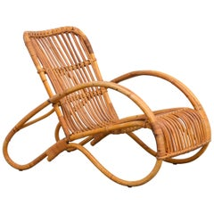Low Rattan Easy Chair