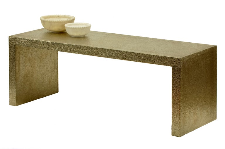 Hand-Carved Low Rectangular Table For Sale