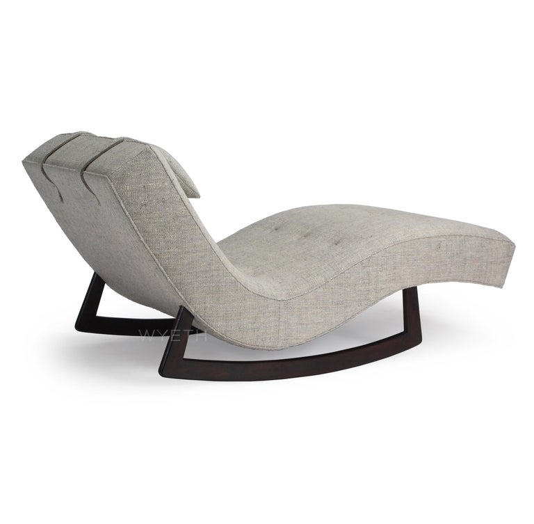 Mid-Century Modern Low Rocking Chaise by Adrian Pearsall For Sale