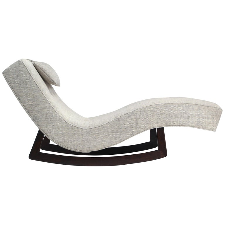 Low Rocking Chaise by Adrian Pearsall For Sale