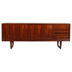 Low Rosewood Credenza by Kurt Østervig