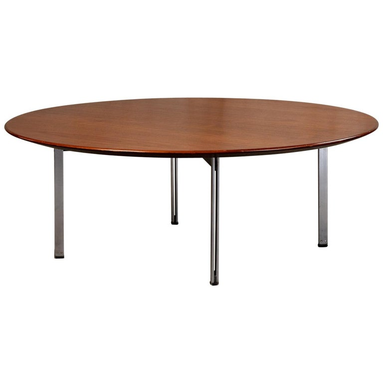 Low Round Wood Coffee Table.Low Round Coffee Table