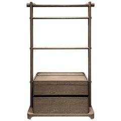 Low Scarf Stand Interlock André Fu Living Grey Oak Modern Cabinet New