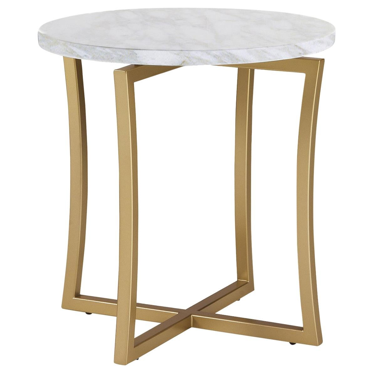 Low Side Table with Calcatta Marble