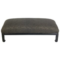 Low Slung Asian Inspired Midcentury Bench