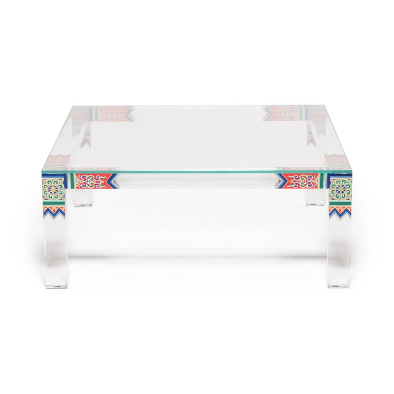Chinese Low Summer Palace Table by July Zhou For Sale