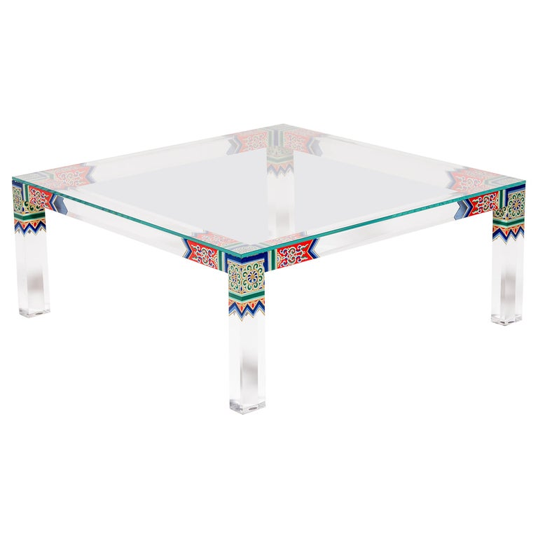 Low Summer Palace Table by July Zhou For Sale