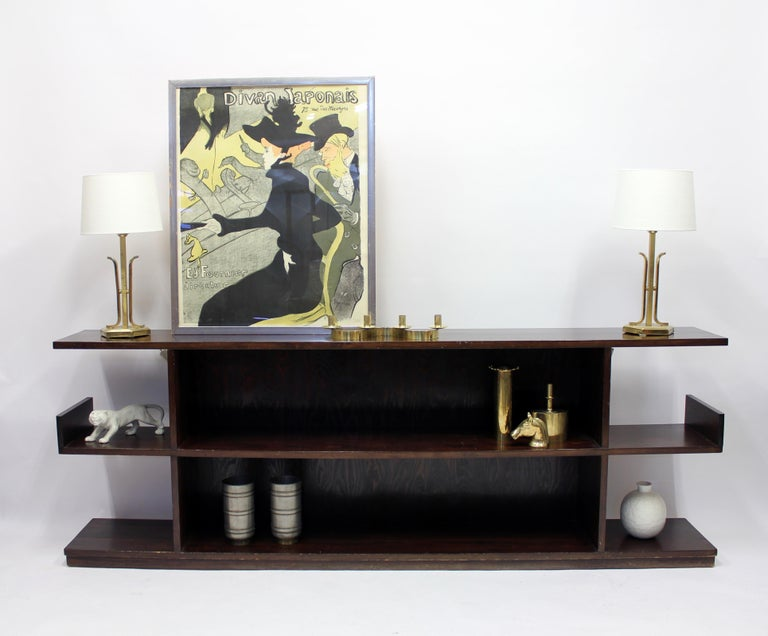 Low Swedish Bookshelf, Attributed to Axel Einar Hjorth, 1930s For Sale 1