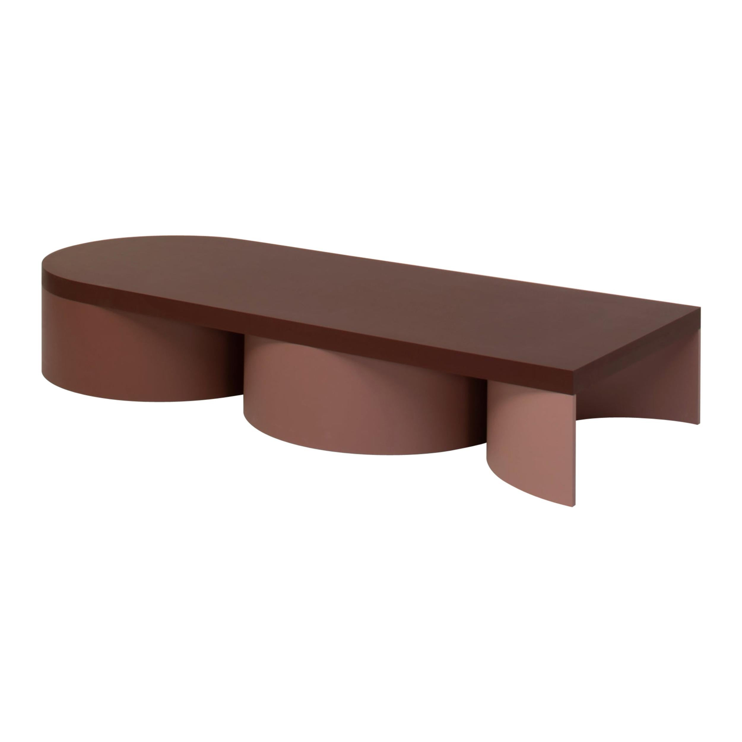 Low Table Colorful Design Contemporary Table Rounded Shapes Form Low Table 3