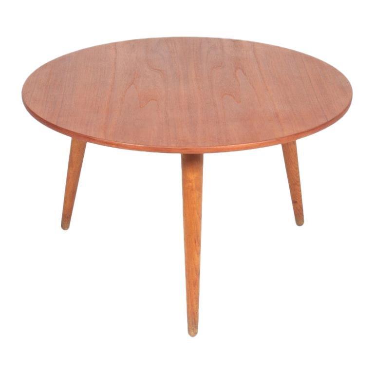 Low Table in Teak and Oak by Hans J. Wegner Danish Modern, 1950s