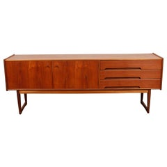 Low Teak Sideboard by A. Younger Ltd. Newly Refinished