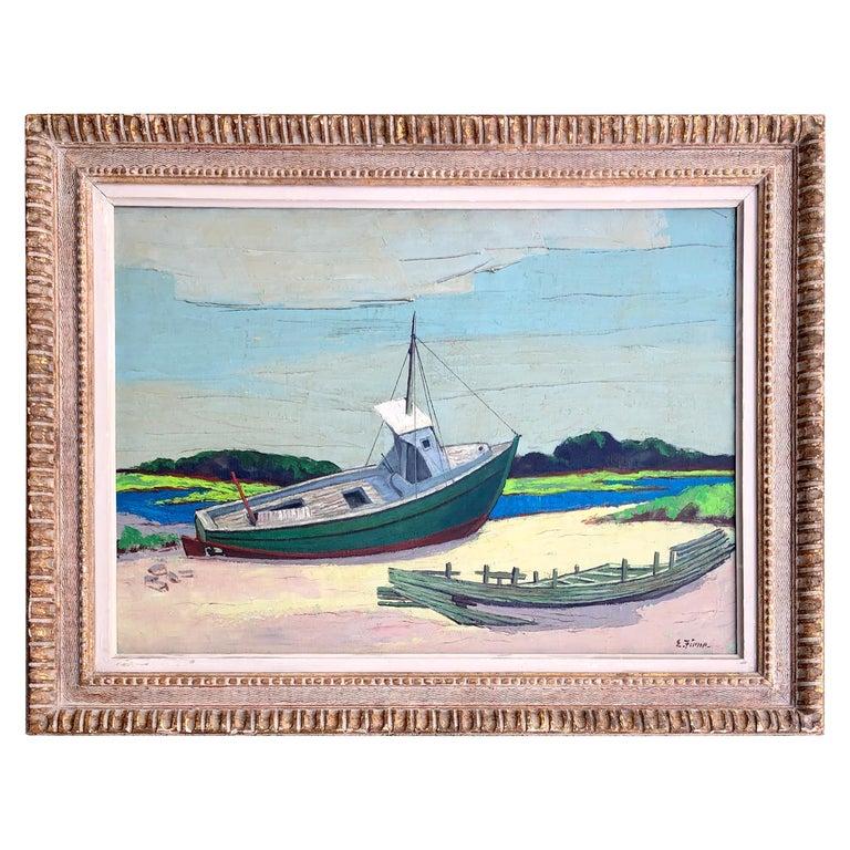 """""""Low Tide"""" by Ernest Fiene For Sale"""