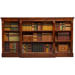 Low Victorian Mahogany Open Bookcase