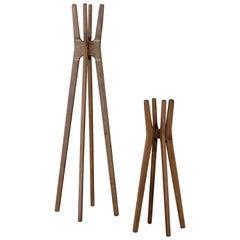 Low Wooden Coat Rack