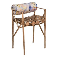 Lowback Leaf Chair in Bronze by Gregory Nangle