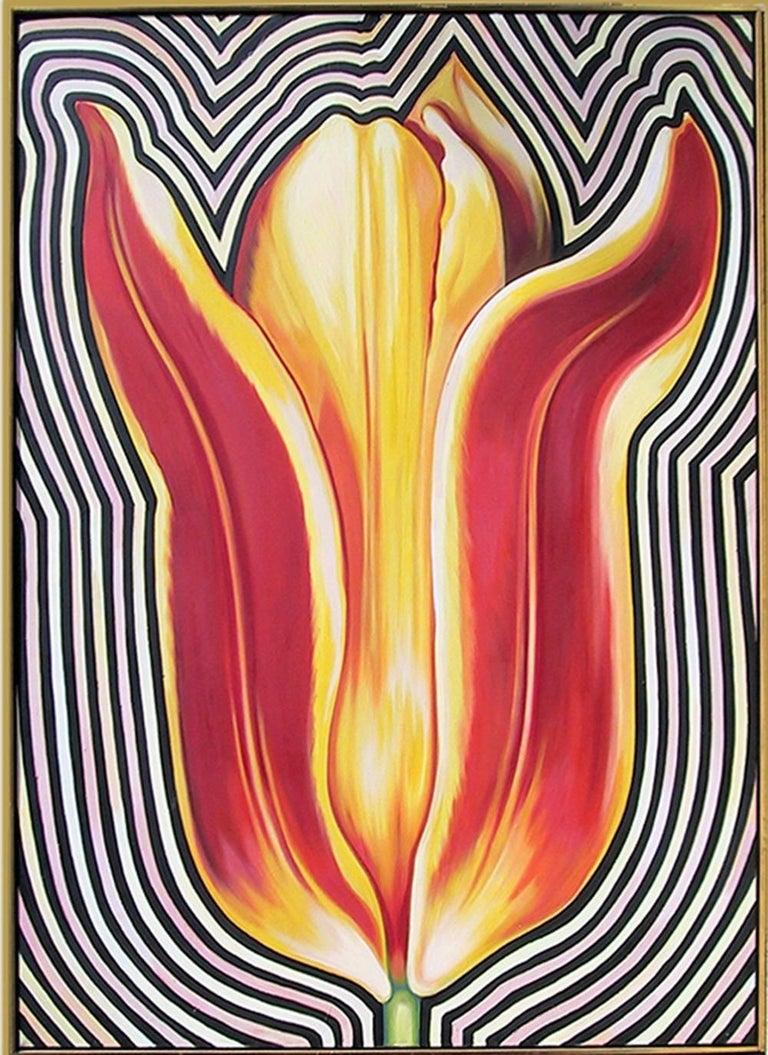 Lowell Nesbitt Abstract Painting - Electric Tulip II