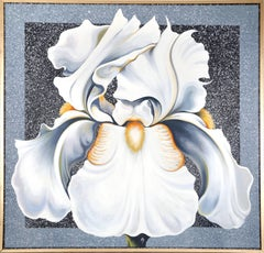 The Winter Iris, Large Flower Painting by Lowell Nesbitt